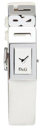 Dolce & Gabbana LOGO LDY SS SILVER DIAL STRAP WHITE DW0508 - Reloj de mujer de cuarzo, correa de piel color blanco