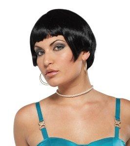 20s Fresh Flapper Wig (Black) Adult Accessory