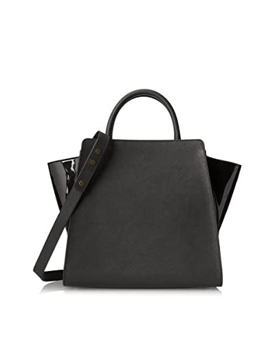 Zac Zac Posen Women's Eartha Monochromatic North/South Satchel, Black
