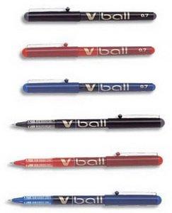 Pilot V-BALL 07 - Conjunto de bolígrafos de punta redonda (tinta líquida, punta metálica de 0,7 mm), color verde