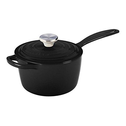 Le Creuset Signature Cast Iron Saucepan 1 3 4 Quart Black Home Garden Kitchen Dining Cookware