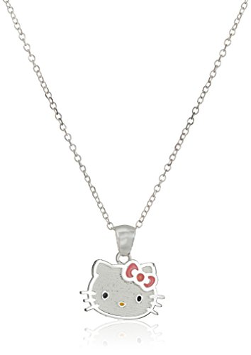 Hello-Kitty-Girls-Sterling-Silver-Pendant-Necklace-18