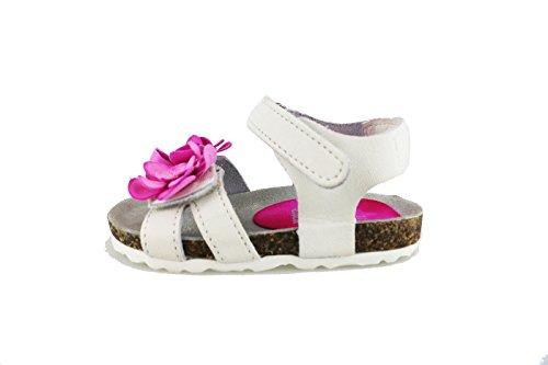 scarpe bambina LULU' sandali bianco / rosa pelle AG646 (EU 24)