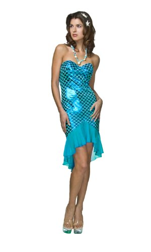 2Pc Mermaid Costume Dress and Necklace