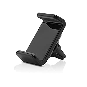 Aukey HD-C7-TY-ES-N - Soporte móvil para coche (rejillas del aire, 360 grados), color negro