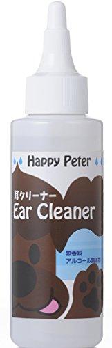 HappyPeter【犬用 イヤークリーナー】洗浄液・無香料・無着色・アルコールフリーで低刺激