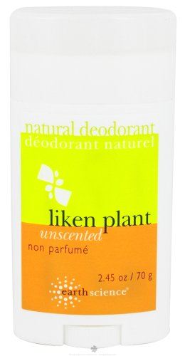 Earth Science Liken Plant Natural Deodorant Unscented - 2.5 Oz