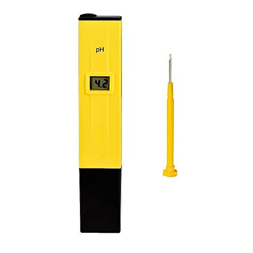 Gearmax® PH-Alta Lettura Precisione Digitale Tasca Penna Tipo Metro con ATC, Grande Dimensione del Display LCD Retroilluminato, 0,00-14,00 PH Campo di Misura