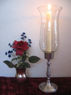 Pewter Wellington Hurricane Candlestick by Brass & Silver Traditions