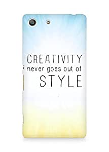 AMEZ creativity never goes out of style Back Cover For Sony Xperia M5