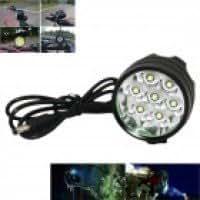 Marsing B70 7-LED 3-Mode 5500lm White Bike Light / Headlamp - Black (6 x 18650)