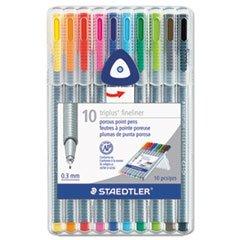 -triplus-fineliner-marker-super-fine-water-based-10-color-set