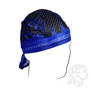 ZANheadgear Flydanna 100 Percentage Polyester Mesh Flames Vented Sport Bandanna (Royal Blue)