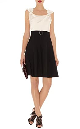 Full Skirted Colorblock Dress