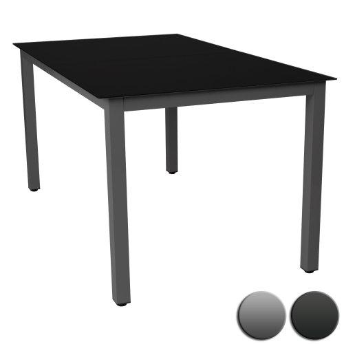 Miadomodo-Gartentisch-Glastisch-Beistelltisch-Aluminium-Gartenmbel