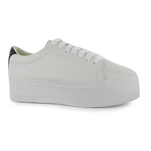Jeffrey Campbell Play Stan piattaforma scarpe da ginnastica bianco/nero Sneakers, White/Black, (UK3)