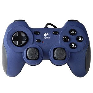 Logitech Dual Action USB 12-Button Gamepad w/Programmable Buttons (Navy/Black) (Computer Game Pad compare prices)
