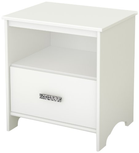 Great Deal! South Shore Tiara Collection Night Stand, Pure White