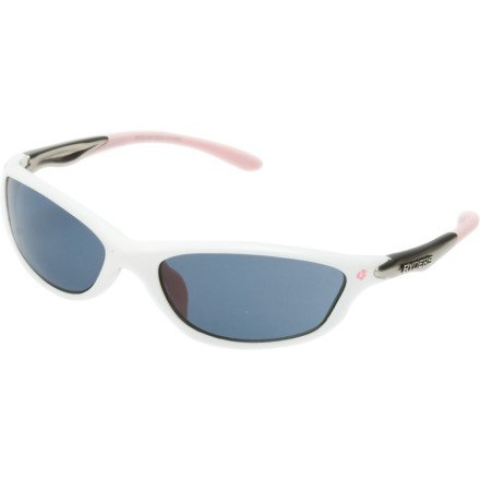 Ryders Eyewear Slim Sunglasses, Gloss White Frame/Grey Lens