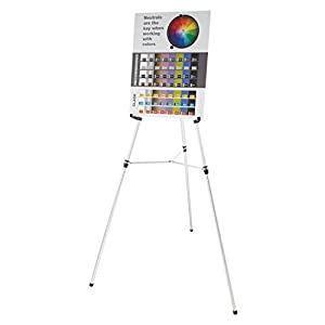 Quartet Aluminum Heavy-Duty Telescoping Display Easel, Silver Finish (55E)