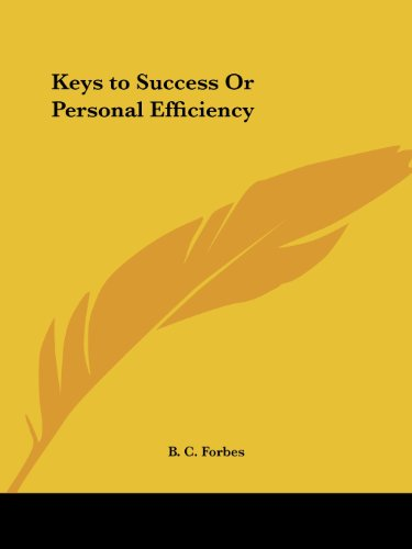 Keys to Success Or Personal Efficiency