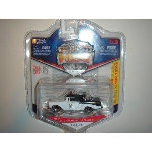 2011 Jada Wave 3 Badge City Heat '56 Chevy Bel Air Highway Patrol White/Black #029 - 1
