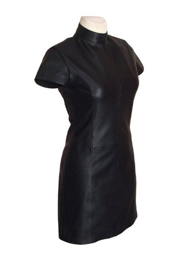 Leather Dealer Lederkleid Pamela Middy schwarz Größe 2XL