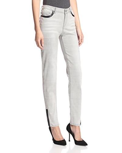 ABS Denim by Allen Schwartz Women's Skinny Jean with Faux Leather Trim