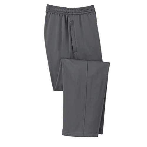 Sport-Tek da uomo Sport stoppino in pile pantaloni Dark Smoke Grey XXXX-Large