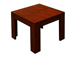 Mahogany Laminated Thermal Fused Melamine Office Reception Room End Occasional Corner Tables