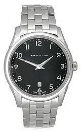 Hamilton Jazzmaster Black Dial Men's Watch #H38511133 oom 102 1 oxygen battery applied to drager mustang hamilton newport chenwei