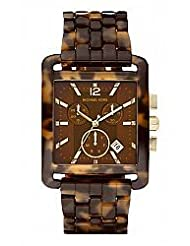 Michael Kors MK4254 Ladies Tortoise Resin Chronograph Watch Bracelet Xl NWT