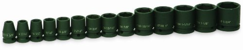 Jh Williams 37904 14-Piece 1/2-Inch Drive Shallow 6 Point Impact Socket Set