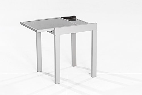 balkontisch amalfi aus aluminium und glas 65x65cm. Black Bedroom Furniture Sets. Home Design Ideas