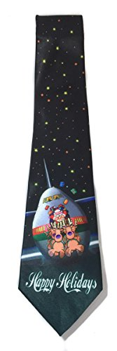 Stonehouse Collection Men's Airplane Christmas Tie - Funny Airline Holiday Theme Tie (Funny Men Ties compare prices)