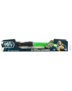 Star Wars Force Tech Qui Gon-Jinn Electronic Lightsaber Toy