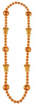 Basketball Beads (orange) Party Accessory  (1 count) (1/Card)