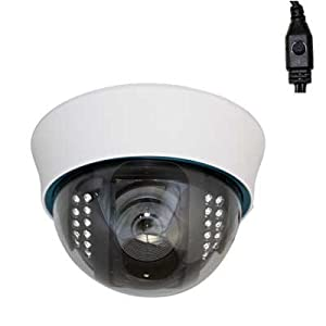 GW Security 1/3-Inch Sony Exview HAD CCD II with Effio-E DSP Devices CCTV Dome Indoor Security Camera - 700TVL, 2.8-12mm Varifocal Lens
