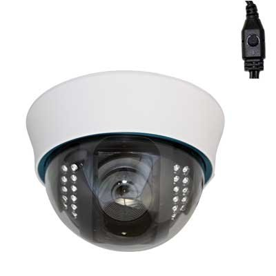 "Professional 1/3"" Sony Exview HAD CCD II with Effio-E DSP Devices Dome Indoor Surveillance Security Camera - 700 TVL, 2.8~12mm Varifocal Lens, 22pcs IR LEDs, 59 ft IR Distance. WDR(Wide Dynamic Range). OSD Menu. Great Image."