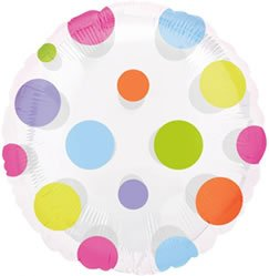 "Anagram International Magic Color Dots Package Balloon, 18"", Multicolor"