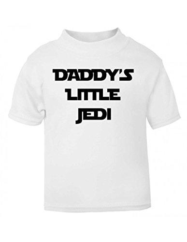 Daddy' s Little Jedi divertente parodia Bambini T Shirt per Bambini Taglie per bambini Top bianco White 5-6 anni