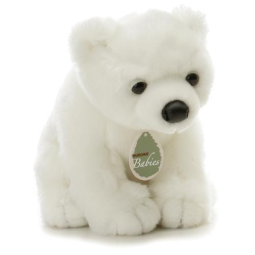 """Aurora Plush 12"""" Baby Slushy Aurora Babies Polar Bear"""