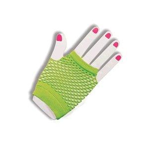 Fingerless Green Fishnet Gloves Halloween Costume Accessory (M24)