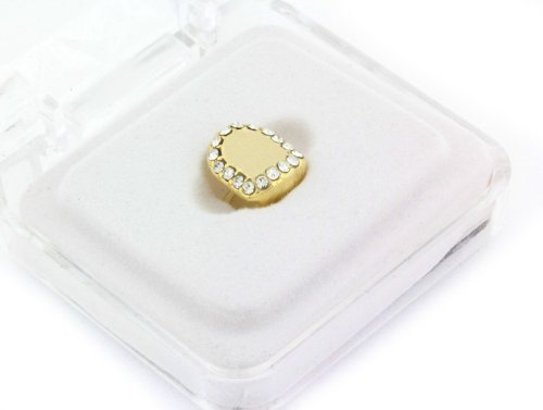 Hip Hop 14K Gold Plated Removeable Grill (Single Tooth Cap) Crown