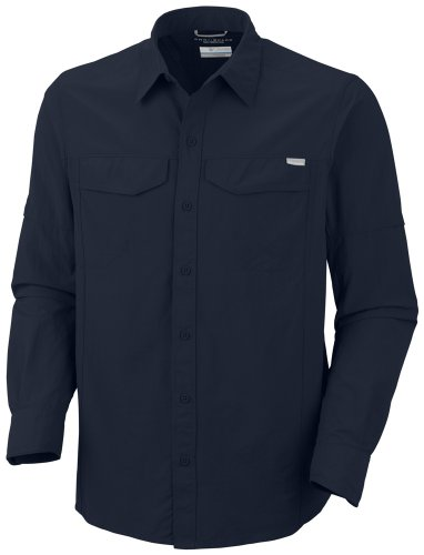 Columbia Men's Silver Ridge Long Sleeve Shirt - Abyss, Large
