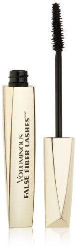 L'Oreal Paris Voluminous False Fiber Lashes Mascara, 270 Blackest Black,  0.34 Fluid Ounce
