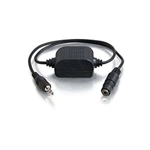 C2G / Cables to Go 40000 3.5mm Extension Stereo Audio Isolation Transformer (Black) (Discontinued by Manufacturer)
