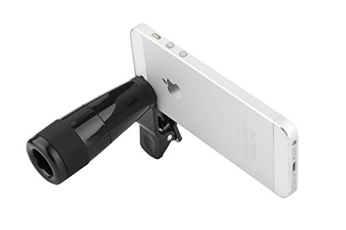 Aestar Universal Clip 8X High Clarity Night Vision Monocular Micro Mini Telescope Optical Lens For Apple Iphone 5 5S 5C 4 4S Ipad Ipad Mini Samsung Galaxy S5 S4 Tablets And Smart Phone (Full Black)