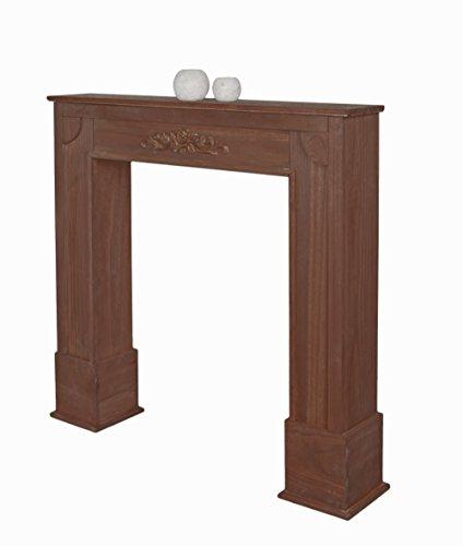 cheminee-decorative-du-bois-cheminee-style-campagnard-en-brun