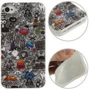 Graffiti Pattern TPU Case for iPhone 4 4S